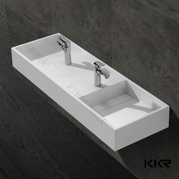Luxury Modern Bathroom Solid Surface Double Vanity Wash Basin