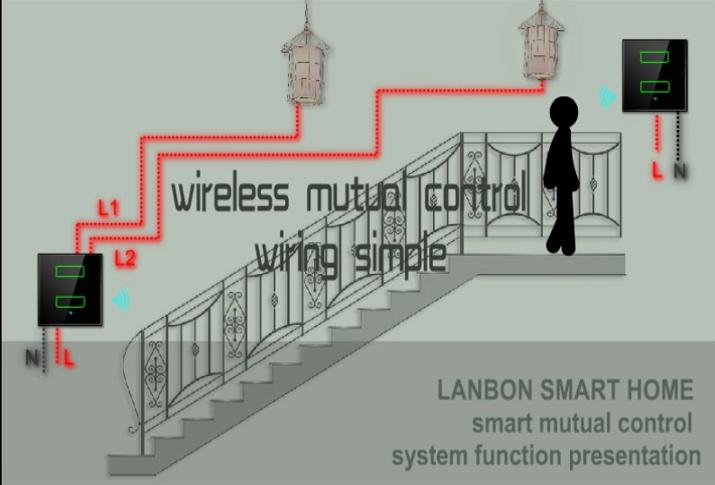 Mutual Control 3 Gang 2 Way Light Touch Wifi Switch 3 Way For