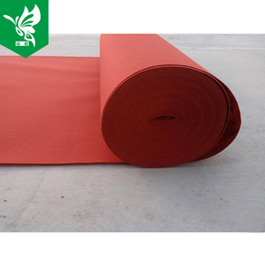 outdoor commercial waterproof red plain exhibition floor carpet