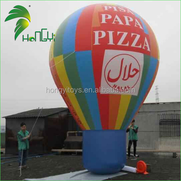 Outdoor Giant Inflatables Rooftop Hot Air Balloon Shape , Inflatable Advertising Ground Balloon For Sale