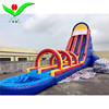 High tall griant inflatable slide double slide with a water pool for adult for water park