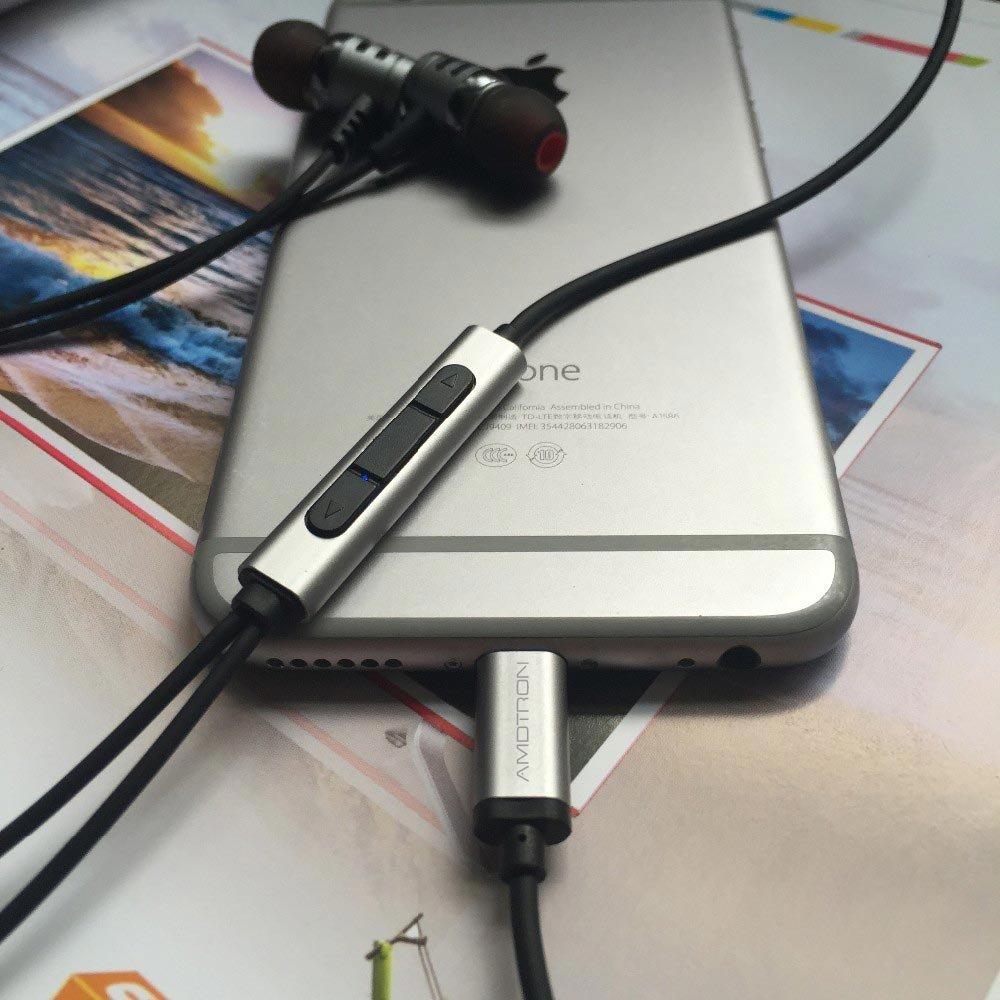 AMDTRON In-Ear Digital Lightning Earphone for Apple iPhone 7, earphone for iphone 7, headphone for iphone 7, iphone 7 earbuds, iphone 7 earphones, iphone 7 headphone, iphone 7 headphones AUDIO ONLY