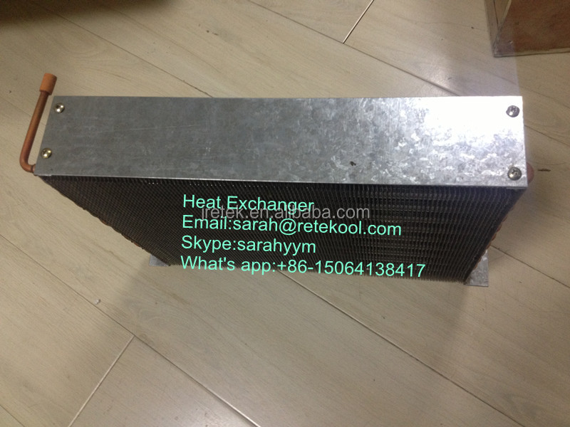 "Heat exchanger with 1/4"" copper tube"