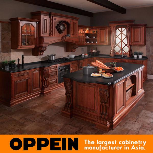 Madera maciza muebles cocina isla gabinete compra for Estilos de gabinetes de cocina