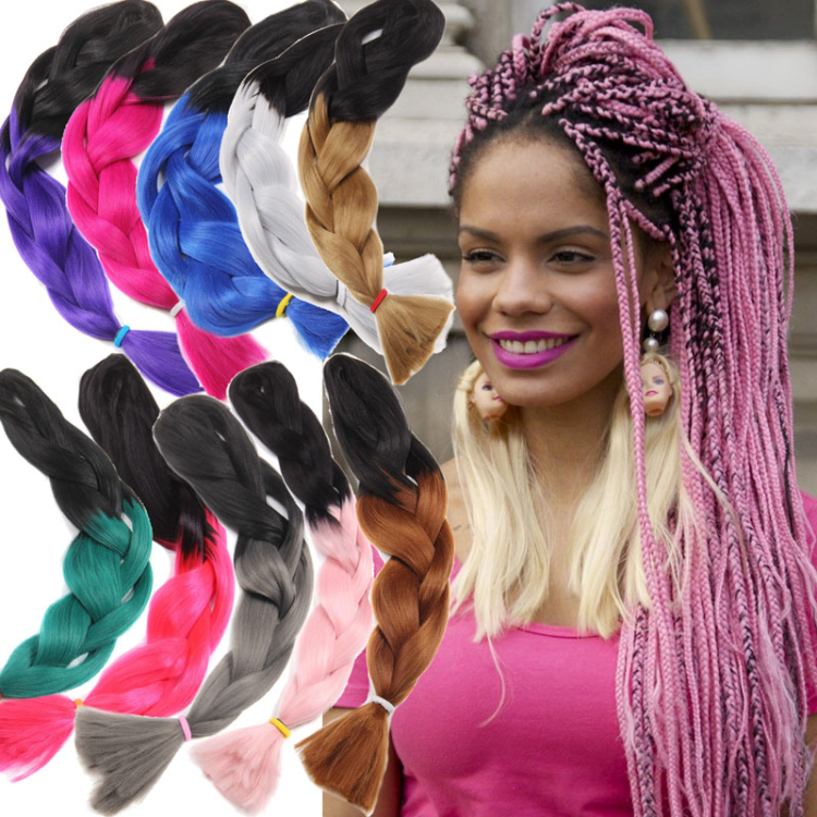 Wholesale 100g 48 Inch Xpression Braiding Hair Extension Ombre Jumbo Braid Hair