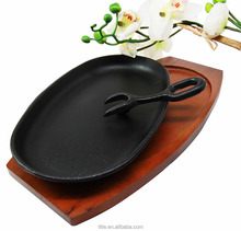 Cast Iron Sizzling Steak Plate Large