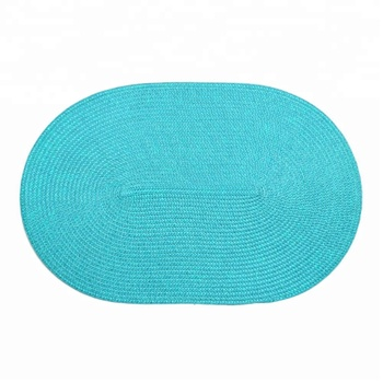 Factory price easy wash oval waterproof holiday restaurant use PP handmade tablecover placemats