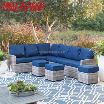 Awesome Modern Luxury Garden PE Rattan Garden Furniture Lounge Sofa Set With  Cushion Garden Treasures Patio Furniture