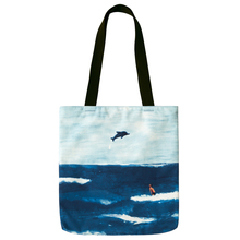 풍경 canvas shoulder tote shopping bag