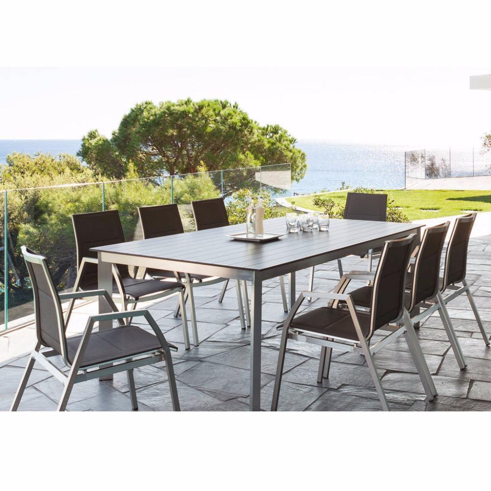 Muebles de patio al aire libre mesa de comedor fundido perfil de ...