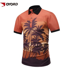 0dabd78b5 Custom sublimation printed high quality mens polyester spandex polo shirts  wholesale