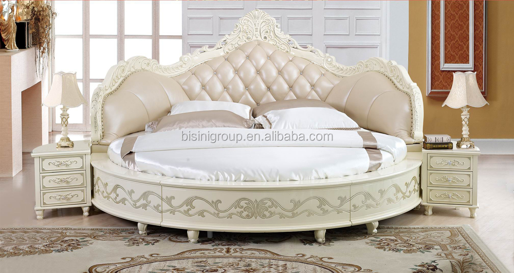European Design Antique Bedroom Round Bed King Size Round