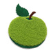 Best selling clothes accessories custom green apple pattern chenille embroidery patch with high quality
