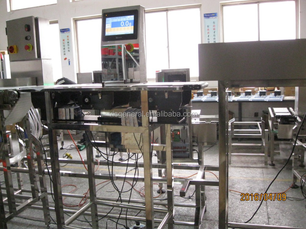 check weigher with 3-12 sorting stages for chicken, fish, etc.