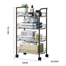 4 tiers Heavy Duty metal 주방 utility Storage 카트