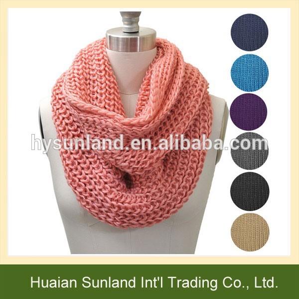 W,740 dama de la moda bufanda del ganchillo/personalizado bufanda de punto/