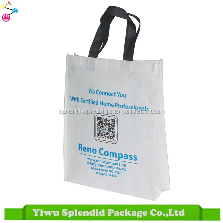 New Fashion Recyclable Eco Shopping Bag Non Woven Laminated Bag Wholesale