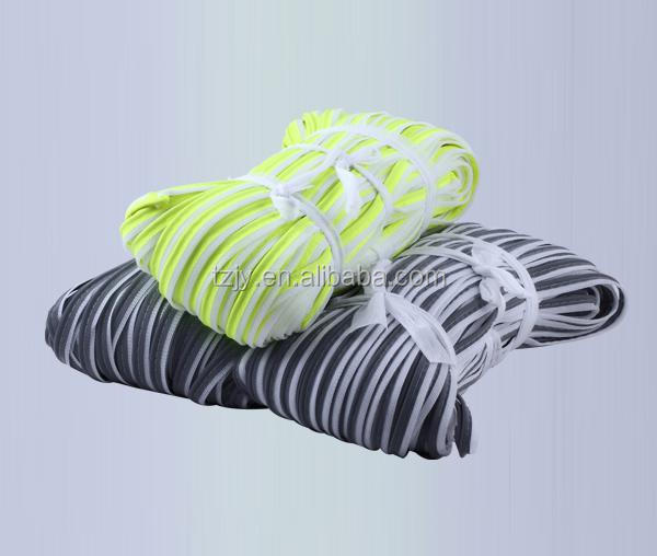 high visibility glow in dark color security reflective piping