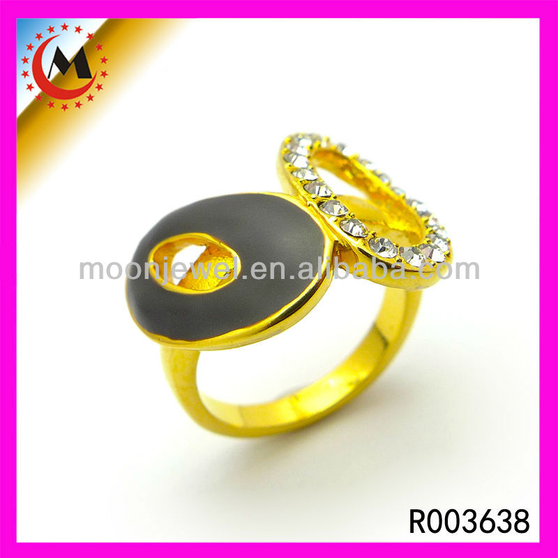 2014 HOT SALE LADIES FINGER GOLD RING DESIGN,PLATING FASHION JEWELRY,TOP LATEST DESIGN 2014 TRENDY RING