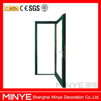 Cheap price with double glazing swing glass entry door for Cheap double glazing