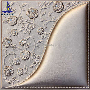 3d leather pvc wall panel Fashion pvc wall ceiling panel for bedroom interior decoration