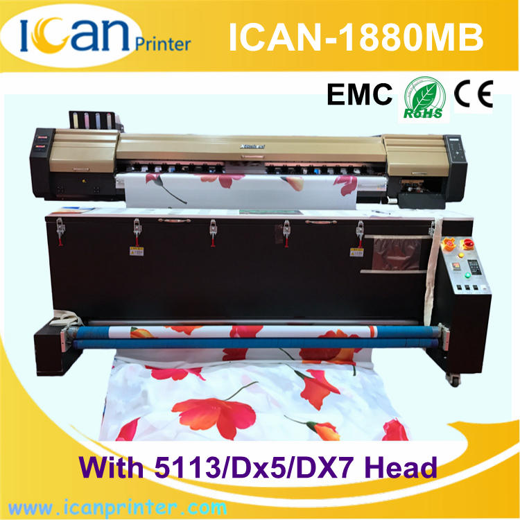 High speed 1.88m subliamtion printer CMYK digital flex banner printing machine price