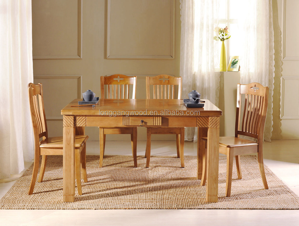 ... european style solid wooden dining table custom made wood dining table  and chair ...