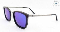 2017 New Design Top Quality Titanium Metal Wood Polarized Sunglasses TW012