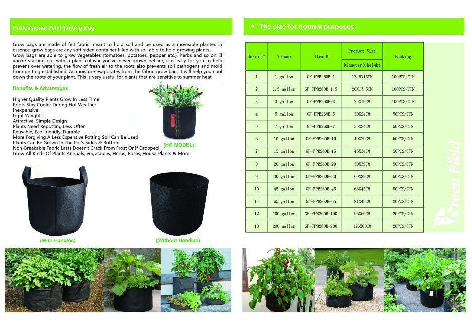 9 Pockets Non Woven Fabric Pot Plant Grow Bags Geotextile Planting Vegetable Nursery Bag Product On Alibaba