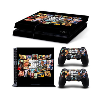 Grand Theft Auto 5 GTA 5 Voor PS4 Console Vinyl Skin Sticker Controle voor Playstation Cover skin 4 + 2 controllers Gamepad Decal