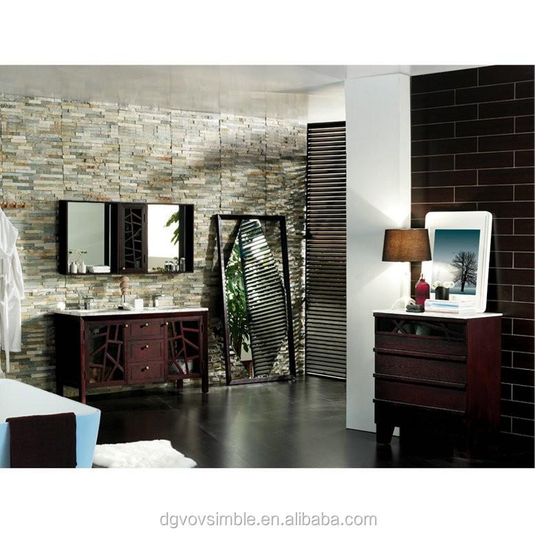 franais meuble lavabo de style ensemble antique brun fonc salle de bains meubles - Ensemble Vanite Armoire
