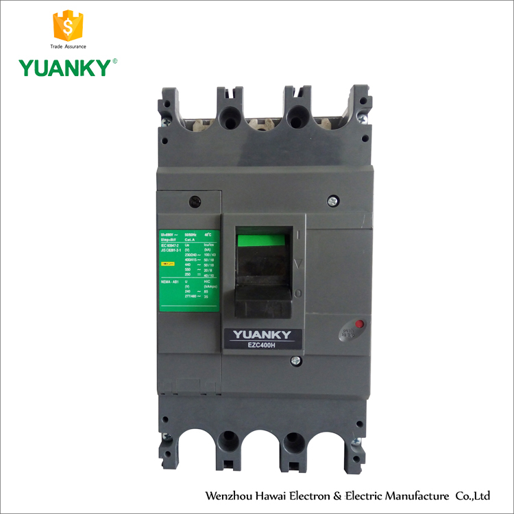 China Factory Supply Moulded Case Circuit Breaker MCCB 400A 3P
