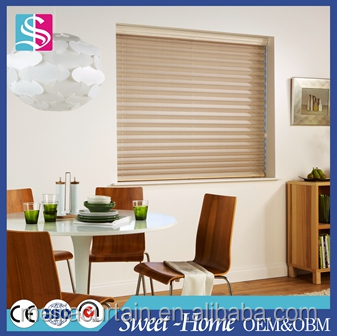 Blackout 100% Polyester Pleated Plisse Plissee Blinds