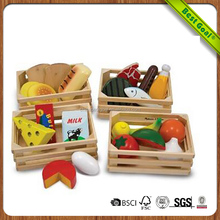 Food Hand-Painted educational Wooden Pieces toys