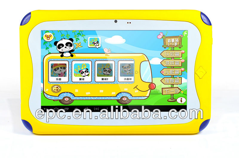 Colourful Chidren Tablet PC for kids learning most healthy Children tablet PC