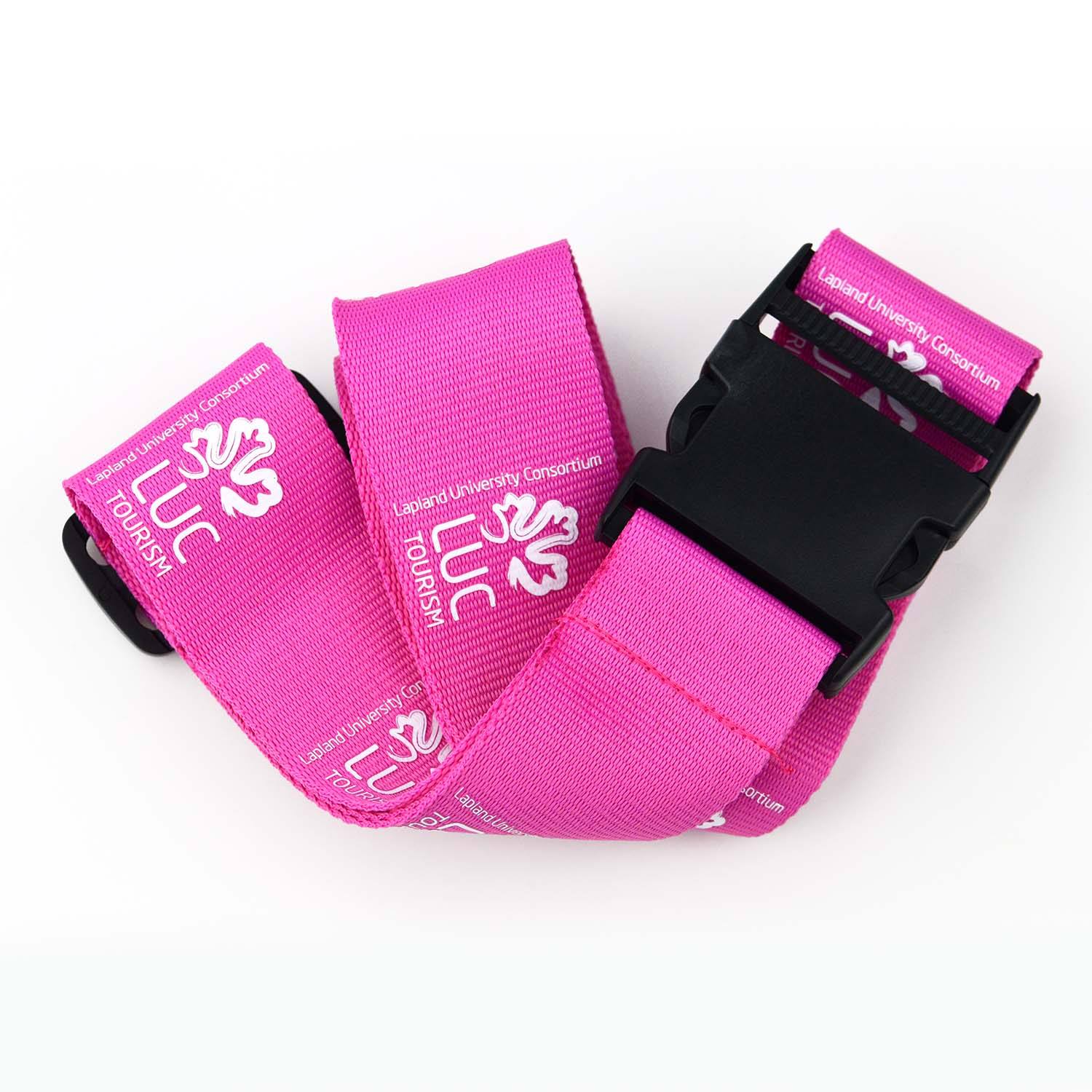 Low MOQ pink color fashion adjustable elastic luggage belt webbing rope