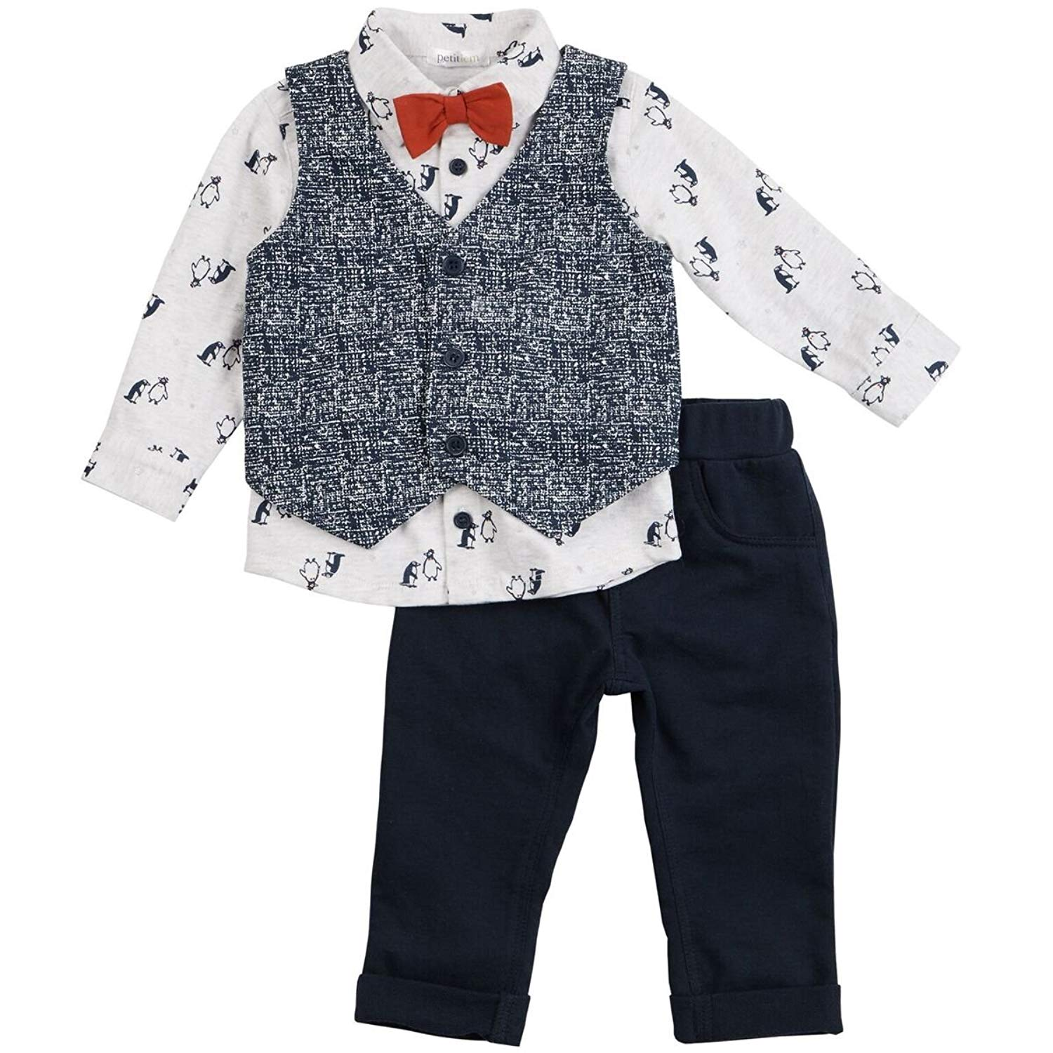 Holiday Editions Boys Pinstripe Gray Vest /& Pants 4T
