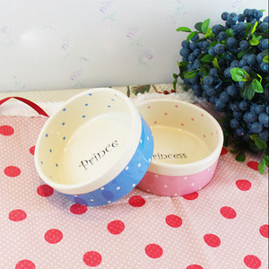 Haonai Eco friendly cat ceramic food bowls for pets.