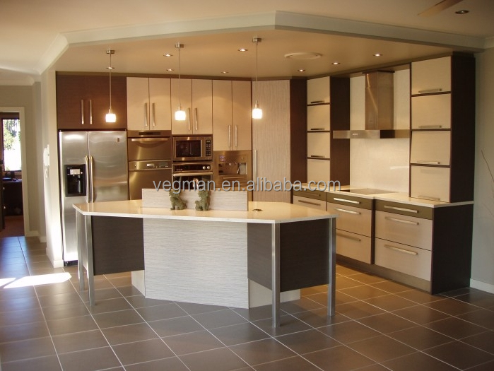 Melamine board kitchen cabinet design for L style kitchens