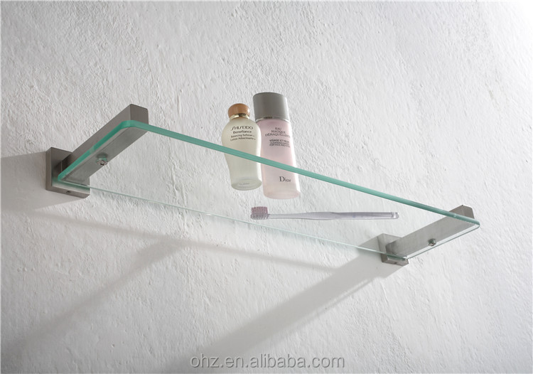 wall hanging stainless steel glass shelf brackets - Glass Shelf Brackets