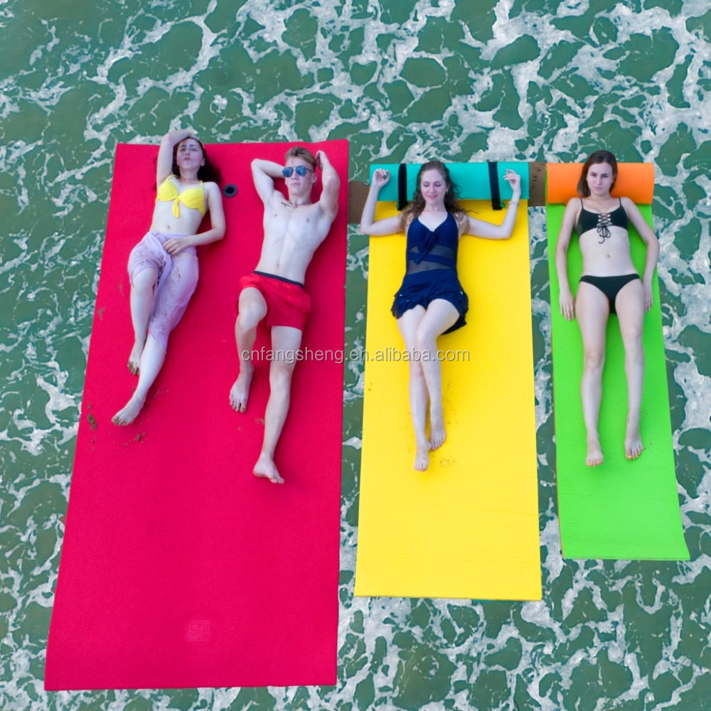 Water park slides floating mat XPE foam water yoga mat foam pad
