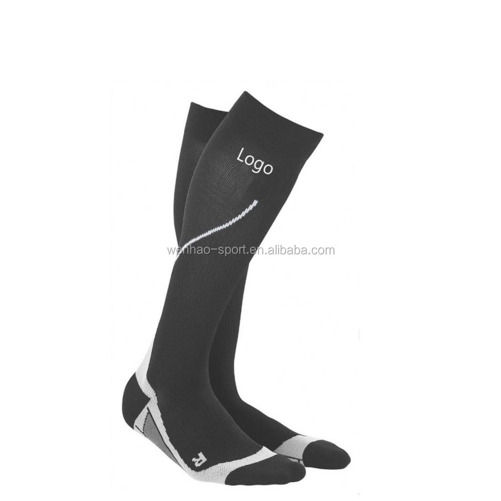Improve circulation custom 20-30mmHg nylon graduated compression socks