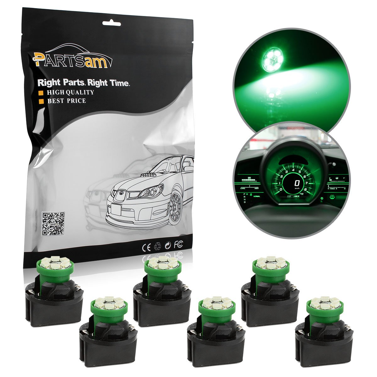 Auto Parts and Vehicles 50Pcs Purple T10 Wedge 4 LED Bulb 194 168 2825 Instrument  Gauge Cluster Light