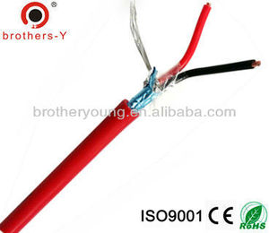 copper 2 core shield fire resistant cable in China