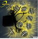 3.5m 10LEDs Holidays/Christmas Tree/Party Outdoor/Garden Decoration Metal Ball/bulb covers Solar String Lights