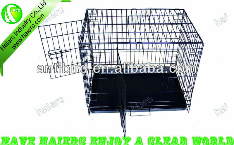 Haierc Pet folding Crates Puppy Dog Cat metal foldable cages 24 30 36 42 48 inch dog house