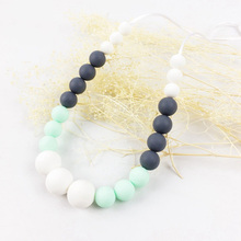 Custom Design Food Grade Silicone Soft Beads Baby Teething Necklace