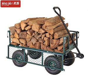 Timber transporting 300kgs fence removable four wheel dolly garden wagon tool cart for wood carrier