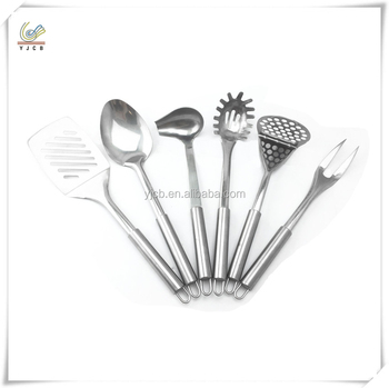 6pcs set stainless steel camping cookware set kitchen for Kitchen tool 6pcs set