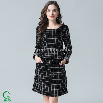 New Model Casual Winter Dresses For Women Plus Size 80s Dresses